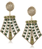 Yochi Olivine and Tourmaline Crystal Filigree Earrings