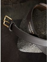 Burberry Trench Leather Belt , Size: 95, Black
