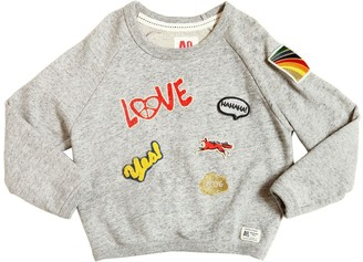 Cotton Sweatshirt W/ Embroidered Patches