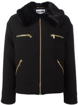 Moschino faux fur collar jacket - women - Modacrylic/Polyester/Rayon/Virgin Wool - 42