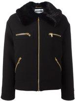 Moschino faux fur collar jacket - women - Virgin Wool/Modacrylic/Polyester/Rayon - 42
