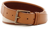 Cole Haan Flat Canvas & Leather Belt