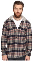 Quiksilver Fellow Player Hooded Woven Button Up Flannel