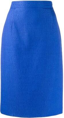 Gianfranco Ferre Pre-Owned 1980s seersucker skirt