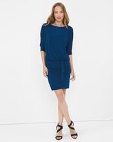 White House Black Market Dolman Sleeve Sweater-Knit Shimmer Dress
