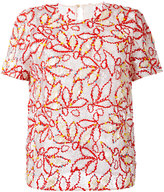 Peter Pilotto sheer embroidered blouse - women - Polyamide/Viscose - 12