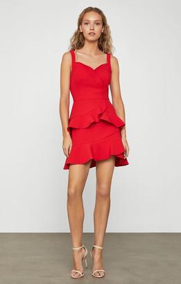 BCBGMAXAZRIA Tiered Mini Dress