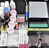 Beauties Factory BF Pro Manicure Pedicure Electric Nails File Drill Set & UV Gel Nail Art Brush Glitter Buffer #946