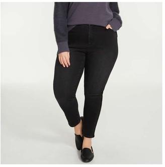 Joe Fresh Women+ Classic Slim Jeans, JF Black (Size 22)