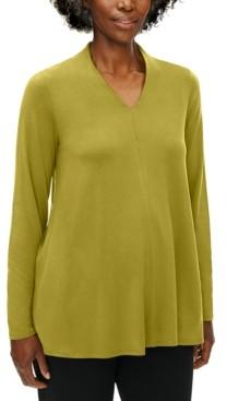 Eileen Fisher V-Neck Top, Regular & Petite