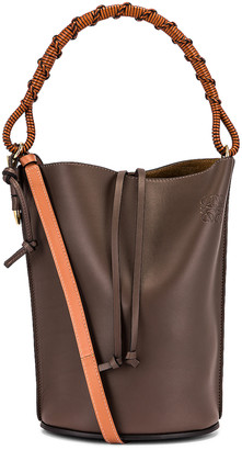 Loewe Gate Bucket Handle Bag in Dark Taupe | FWRD