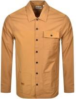 Timberland Overshirt Logo Jacket Brown