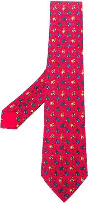 Hermes 2000's Pre-Owned Horse Print Tie