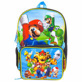 LICENSED PROPERTIES Mario Backpack with Lunch Box