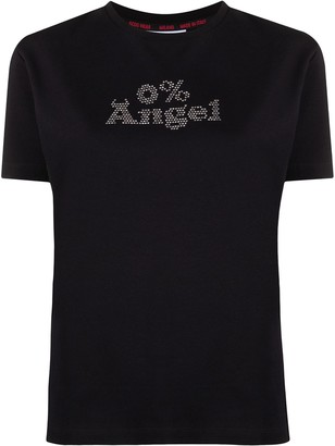 GCDS Angel rhinestone T-shirt
