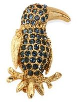 Oscar de la Renta Pave Parrot Brooch