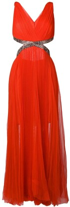 Maria Lucia Hohan Juliet pleated maxi dress