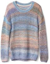 Chunky multi-dyed sweater