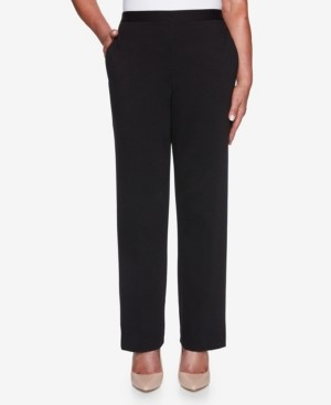 Alfred Dunner Women's Plus Size Knightsbridge Station Ponte Proportioned Pant