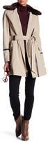 Via Spiga Detachable Faux Fur Trench Coat