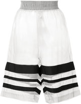 Christopher Raeburn organza grosgrain shorts - women - Silk/Polyester - L