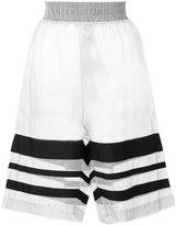 Christopher Raeburn organza grosgrain shorts - women - Silk/Polyester - S