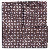 Lardini Paisley print silk pocket square