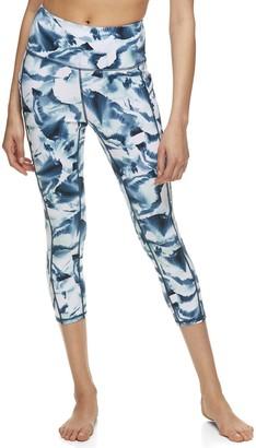 Gaiam Women's Om High-Waisted Pocket Yoga Capri Leggings
