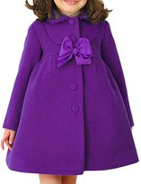JiaYou Girl Child Kid Butterfly Buttons Outwear Pea Coat(,Height 43-47Inches)