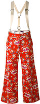 Y's floral wide-leg trousers - women - Cotton/Cupro - 1