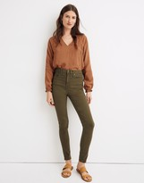 "Madewell 10"" High-Rise Skinny Jeans: Garment-Dyed TENCEL Denim Edition"