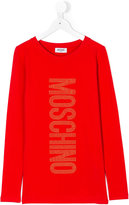 Moschino Kids logo long sleeve T-shirt
