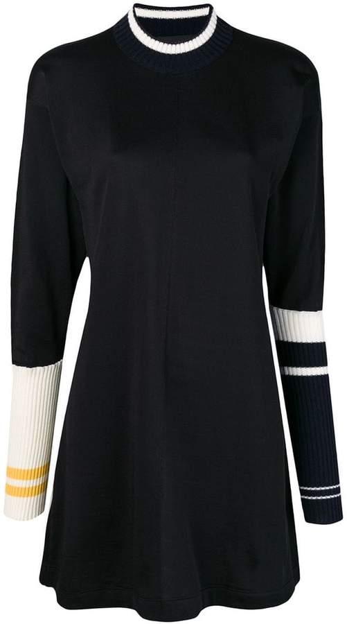 Calvin Klein knit-panel shift dress