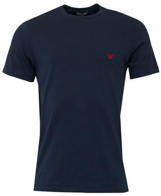 Emporio Armani Embroidered Eagle T-shirt Colour: BLACK AND GOLD, Size:
