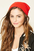 Forever 21 Fitted Glitter Knit Beanie