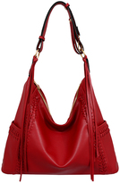 Mellow World Maroon Isabelle Whipstitch Hobo