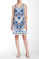 Max Studio Sleeveless Printed Trapeze Dress