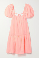 Thumbnail for your product : HONORINE Elodie Cotton-gauze Mini Dress - Pastel pink