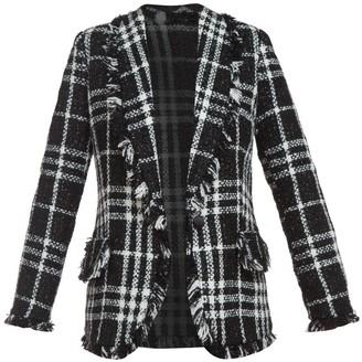 Cliché Reborn Boucle Blazer In Black & White