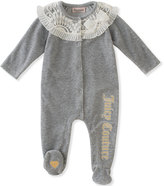 Juicy Couture Gray Lace-Accent Footie - Infant