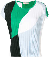 Emilio Pucci colour-block plissé blouse