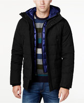 MICHAEL Michael Kors Men's Hooded Puffer Coat with Attached Bib