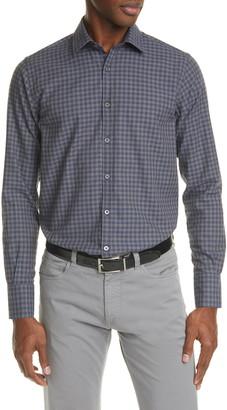 Canali Regular Fit Check Button-Up Shirt
