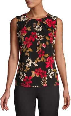 Calvin Klein Moody Floral Pleat Neck Tank