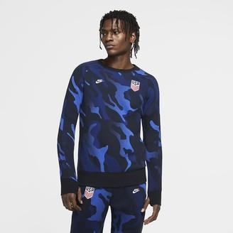 Nike Men's Fleece Long-Sleeve Soccer Crew U.S