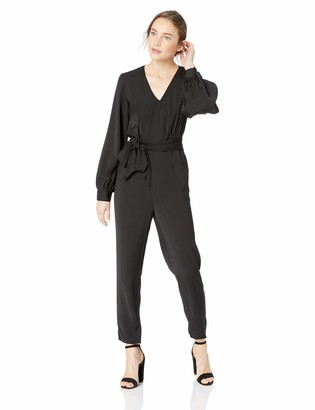 The Fifth Label Women's Circuit V Neck Long Sleeve Jumpsuit with Tie at Waist
