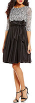 Jessica Howard Petite 3/4-Sleeve Sequined Lace Taffeta Party Dress