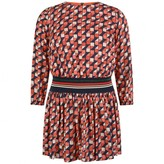 Paul Smith JuniorGirls Coral & Navy Geometric Pattie Dress