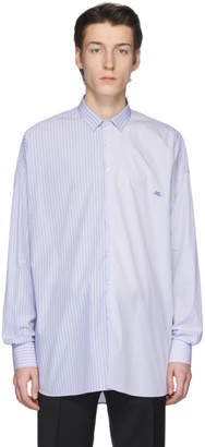 Etro Blue and White Piece Stripe Shirt