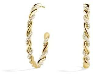 David Yurman Wisteria Hoop Earrings With Diamonds In 18K Gold